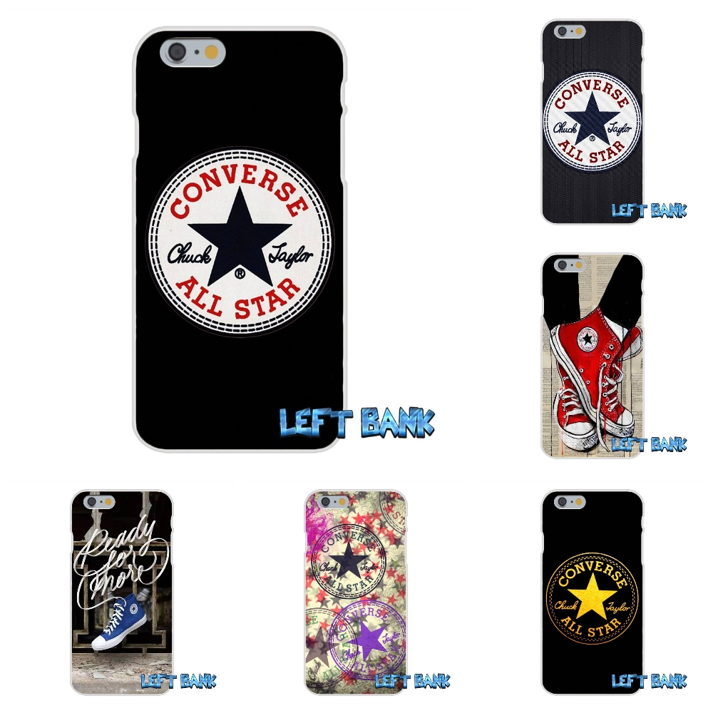 Customize For converse all star Logo Soft Silicone TPU Transparent Case For Samsung Galaxy Note 3 4 5 S4 S5 MINI S6 S7 edge