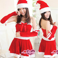 Blue Solid Uniform Temptation Women Cosplay Party Sexy Christmas Costumes Polyester Sexy School Girl Costume