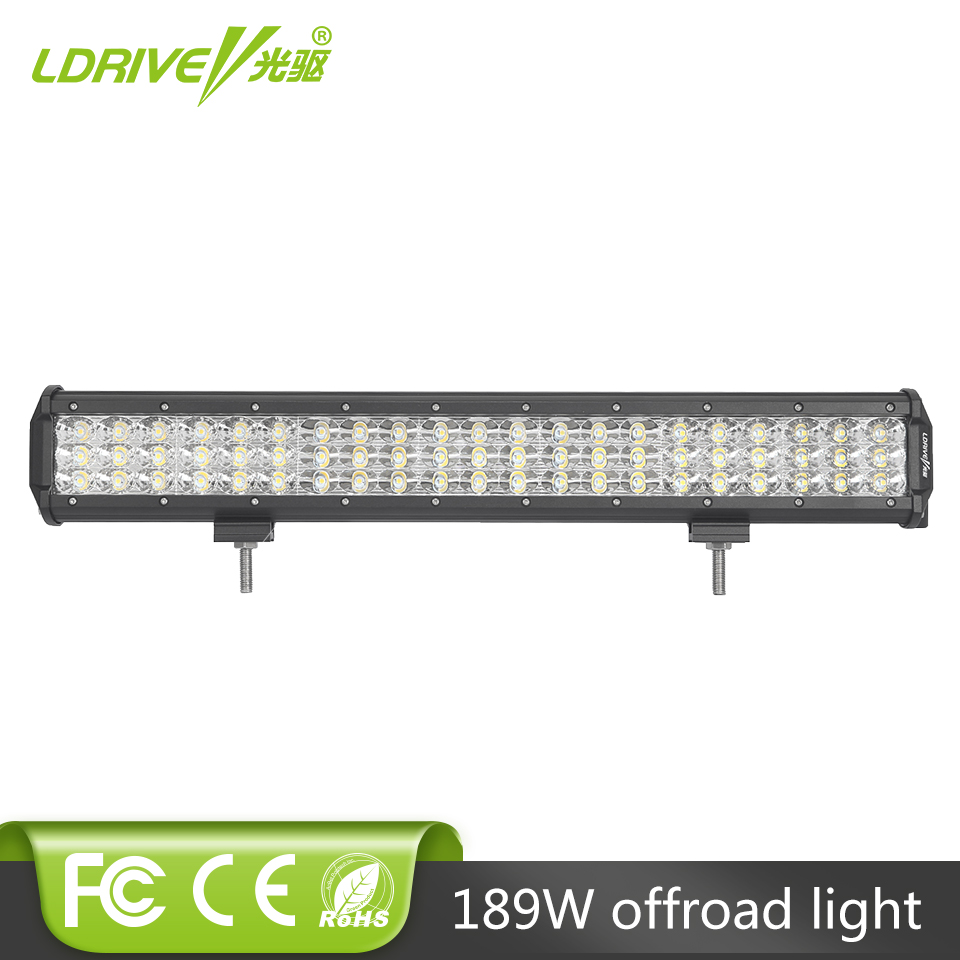 12V 24V 20 Inch 189W Combo Spot Flood Beam 6D 3-Row LED Work Light Bar for Jeep Offroad 4x4 4WD LED Fog Lamp Truck Tractor RZR tripcraft 4 6inch 40w led work light bar spot flood combo beam for offroad boat truck 4x4 atv uaz 4wd car fog lamp 12v 24v ramp