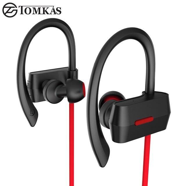 Bluetooth 4.1 Спорт Наушники Стерео Микрофон Портативный Водонепроницаемый Bluetooth Гарнитура Наушники Беспроводные Наушники Для Мобильных Телефонов TOMKAS
