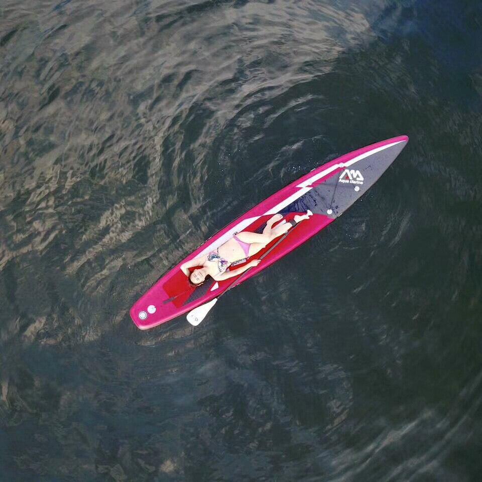 AQUA MARINA COURSE 427*71*15 cm gonflable planche de surf stand up paddle board sup conseil planche de surf sac laisse paddle fin A01008