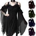 Plus Größe XXXXXL XXXXL XXXL XXL XL Cosplay Kostüme Frauen Steampunk Victorian Gothic Kleid Medieval Phantasie Kleid