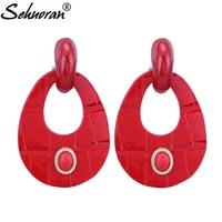 Sehuoran Drop Earrings For Woman Artificial Leather Dangle Earrings Jewelry Wholesale New Arrived Hot Sale Brand