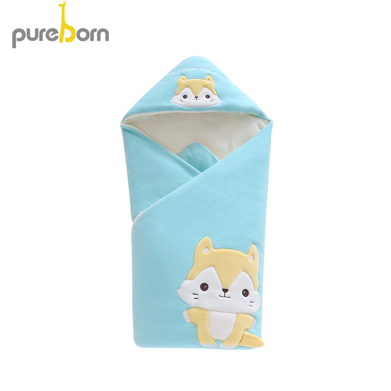नवजात शिशुओं के लिए बेबी स्वैडल 88 सेमी बेबी कंबल मोटी गर्म शिशु कपास मवेशी स्लीपिंग बैग लिफ़ाफ़ा बिस्तर लपेटकर स्लीपिंग