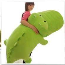 super huge lovely crocodile toy plush cartoon crocodile doll big fat green crocodile toy gift about 170cm