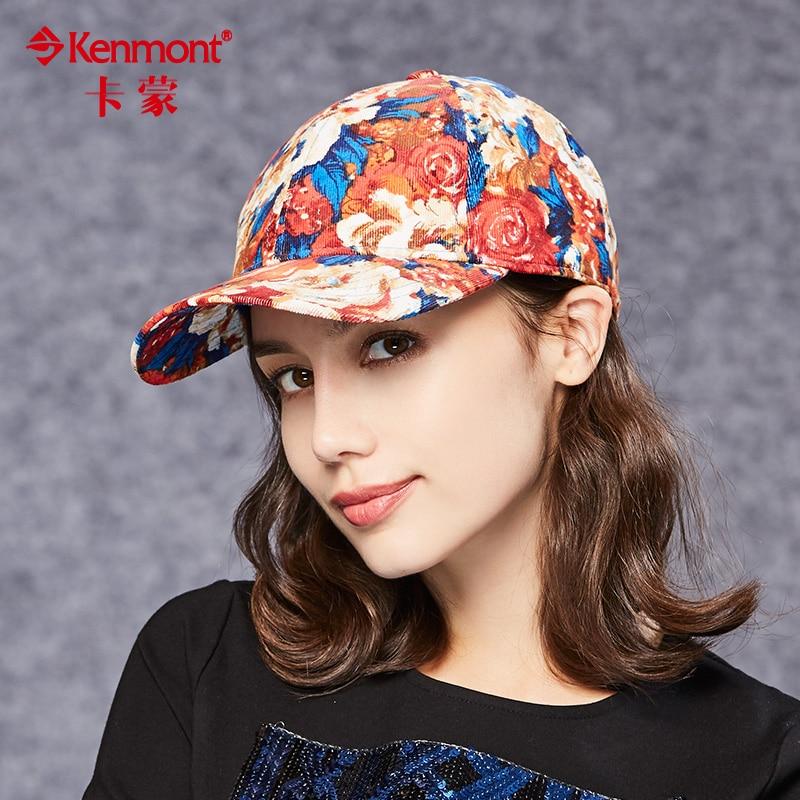 CaMon children winter Baseball Cap Hat cute Korean Guochao cotton hip-hop peony pattern Fashion peaked cap