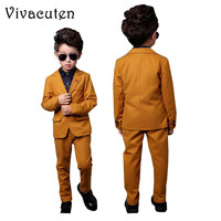 Children Boys Birthday Dress Blazer Pants Boys Formal Suit For Weddings Party Boys Kids Clothes Set Brand Blazers Suits F013