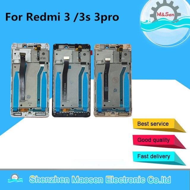 """5.0 """"Xiaomi Redmi 3 용 Redmi 3S Redmi 3 Pro LCD 스크린 디스플레이 + Redmi 3X Lcd 용 터치 패널 디지타이저 프레임"""