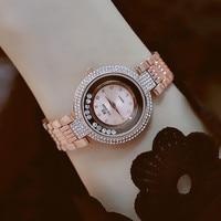 BS Top Brand Gold Filled Ladies Watch Luxury Strike Lucky Women Watches Reloj Mujer Girl Fashion Diamond Watch Zegarek Damski