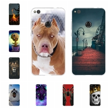 For Huawei P8 Lite 2017 P9 Lite 2017 Case Soft TPU For Huawei Honor 8 Lite Nova Lite Cover Cat Pattern For Huawei GR3 2017 Capa все цены