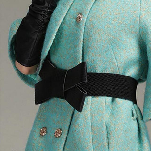 Cintos Para As Mulheres do vintage Arco Preto Elegante Acessórios de Moda Cinto Elástico Da Cintura Das Mulheres
