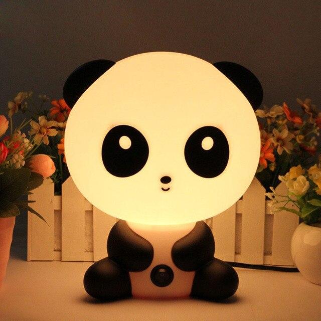 Панды ночник для детской спальни лампы Детские Мультяшные Домашние животные кролик ПВХ пластиковые светодиодные детские лампы Ночник для детей