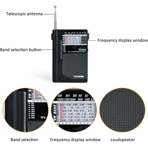 Image 5 - TECSUN R 808 راديو محمول FM/MW/SW كامل الفرقة مكبر صوت صغير راديو الرجعية FM:87 108 MHz/MW:525 1610kHz/SW1 6: راديو 5.80 18.12MHz