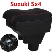 Para suzuki sx4 caixa de apoio de braço loja central caixa conteúdo com suporte copo cinzeiro decoração produtos acessórios com interface usb Braços     -