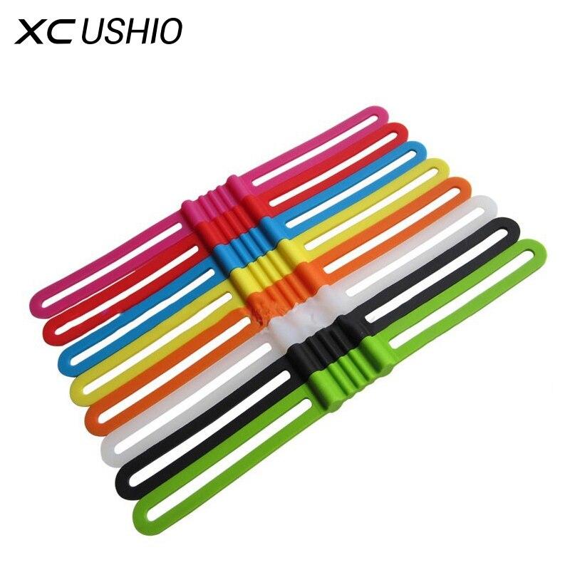 3 PCS /Pack High Stretch Bike Front Light Holder Silicone Strap Bicycle Handlebar Fixing Flashlight Torch Bands Elastic Bandage