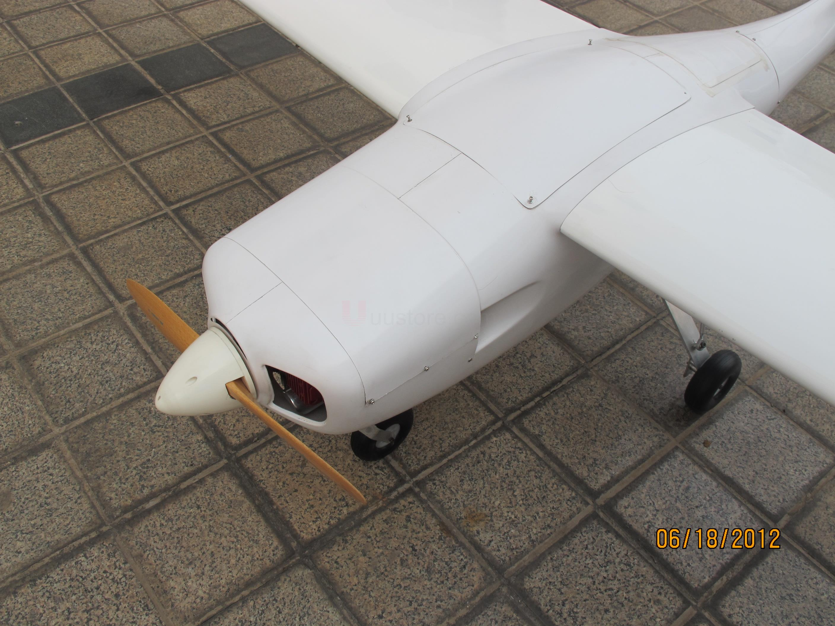 FPVOK UAV Gas Powered 2.6m Wingspan Requirement 50-80cc engine Modle Airplane