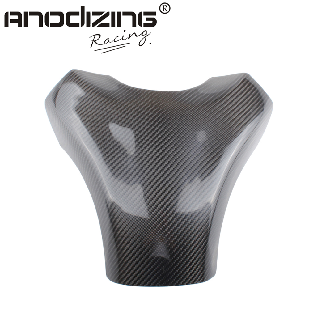 Carbon Fiber Fuel Gas Tank Cover Protector For Kawasaki ZX-10R 2008-2010 black color motorcycle accessories carbon fiber fuel gas tank protector pad shield rear carbon fiber for kawasaki z1000 03 06