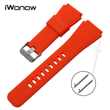 Quick Release Silicone Rubber Watchband 22mm for Asus ZenWatch 1 2 Men WI500Q WI501Q LG G