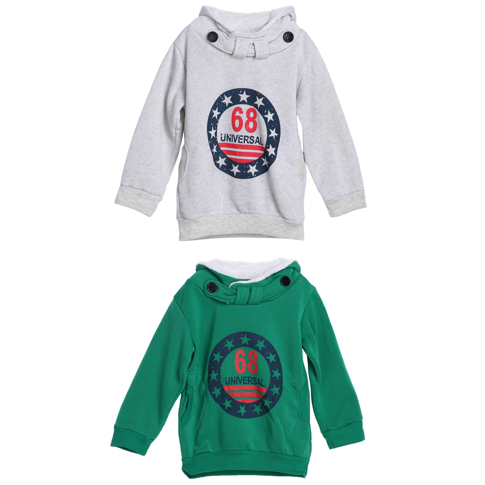 Baby Boys Warm Wool Fleeces Thick Coat Kids Cotton Hoodie Tops Jacket Sweater Pullover Outwear AO#<font><b>P</b></font>