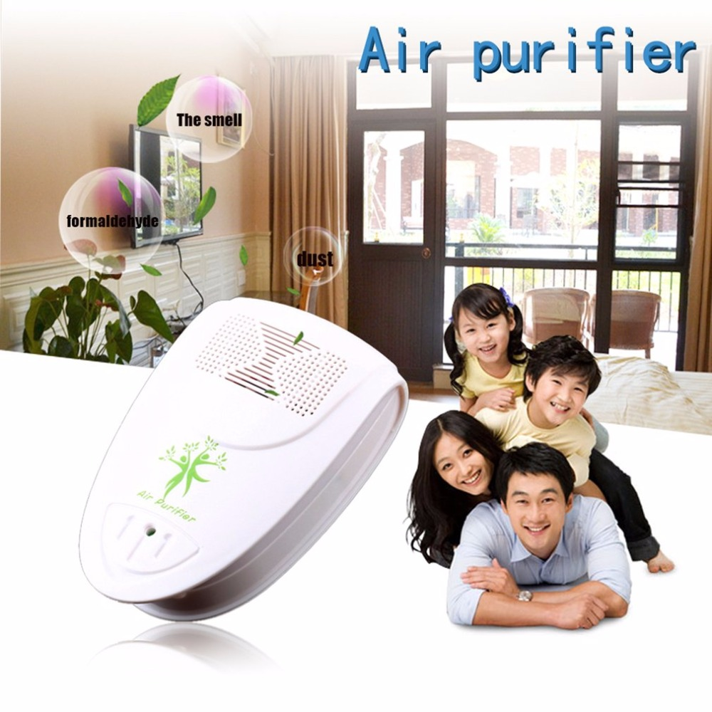 Mini Indoor Oxygen Bar deodorant Ionizer Air Fresh Purifier Home Wall 110/220V With Adapter Home Autocar Negative Ion Purifier