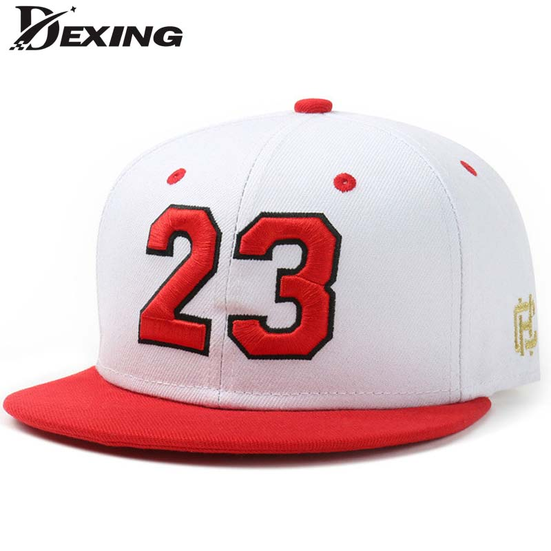 [Dexing] autumn winter red letter 23  baseball cap  Hip Hop Snapback hat Simple Classic Caps flat bill baseball cap  jordan brand bonnet beanies knitted winter hat caps skullies winter hats for women men beanie warm baggy cap wool gorros touca hat 2017