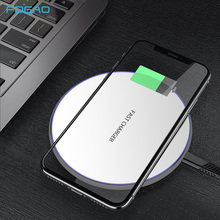FDGAO 10W Qi Fast Charge Ultra-Slim Wireless Charger Quick Charging Pad For iPhone XS Max X 8 XR Samsung S9 S8 S10 Xiaomi mi9