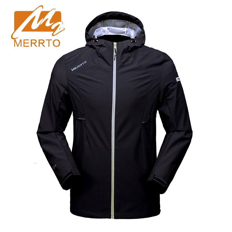 Merrto outdoor Men's Soft shell Jackets with hood Breathable Windproof Waterproof Sports Jackets camping Climbing hiking coat men hiking jackets big size 5xl 6xl 7xl 8xl soft shell outdoors jackets thin breathable detachable hood climbing camping coat