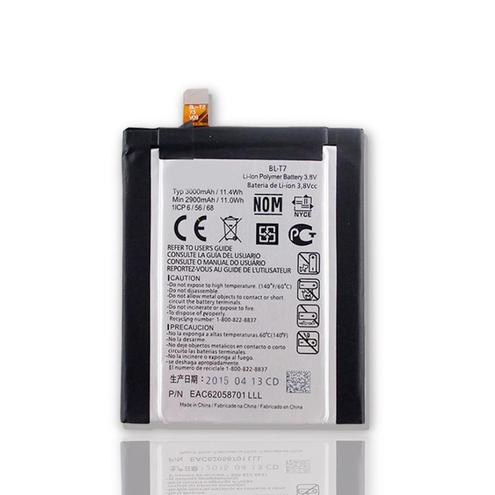 High Quality Original For LG D802 D800 D803 Optimus G2 P693 T7 VS9801 BL-T7 Battery 3000mAh Genuine Batterie