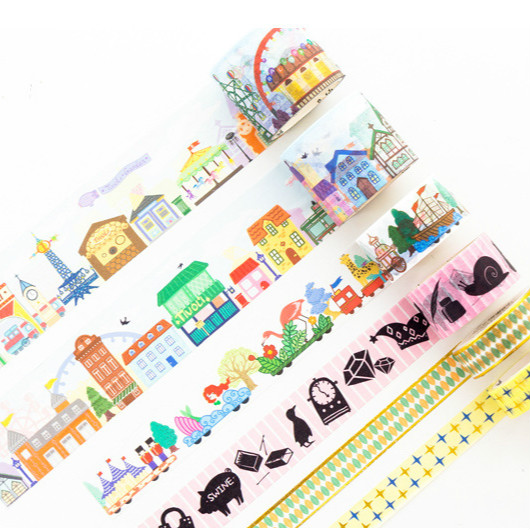 Fireworks Celebration Washi Tape Diy Scrapbooking Sticker Label Masking Tape School Office Supply Gift Stationery