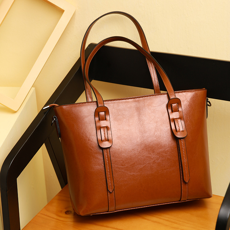 Fashion Women's Split Leather Shoulder Bags Ladies Leisure Brief Tote Purse Female Vintage All-match Large Capacity Handbags pure sine wave solar inverter 1000w 12v 220v car power inverter voltage converter power supply 12v 24v dc to 110v 120v 220v ac