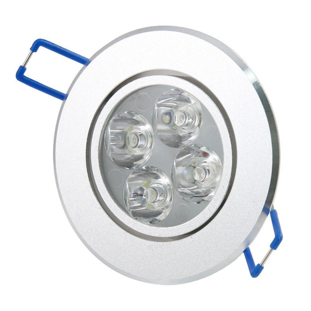 1PCS Recessed LED Ceiling Downlight Spotlight Lamp Bulb Light High Lumins 4W Cool White/Pure White/ Warm White 85-265V