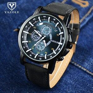 YAZOLE спортивные кварцевые часы, мужские светящиеся аналоговые военные часы, мужские наручные часы, мужские часы, мужские часы, кожаные часы