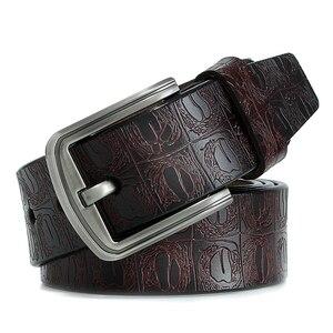 Image 3 - Yeni ürün marka lüks tasarım pin toka hakiki deri inek derisi kemer kot kemerler erkekler için iş kovboy kemerler sıcak satış
