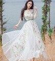 Белый цветок винограда вышивка старинные длинное платье платье средневековой эпохи возрождения кружева костюм платье принцессы викторианской / мария-антуанетта