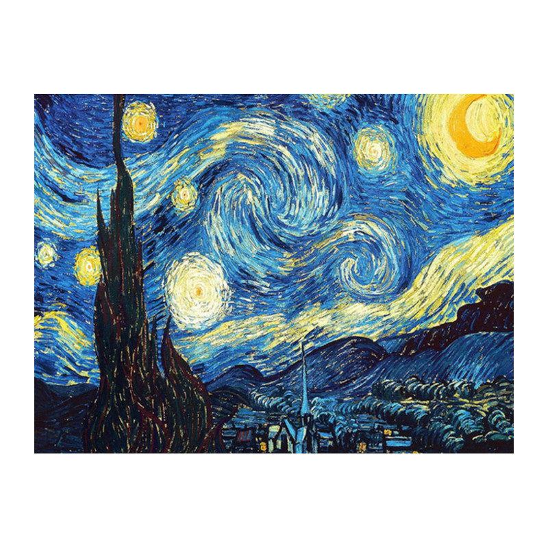 Décoration de la maison DIY 5D Diamant Broderie Van Gogh Nuit Étoilée Point De Croix kits À L'huile Abstraite Peinture Résine CDC