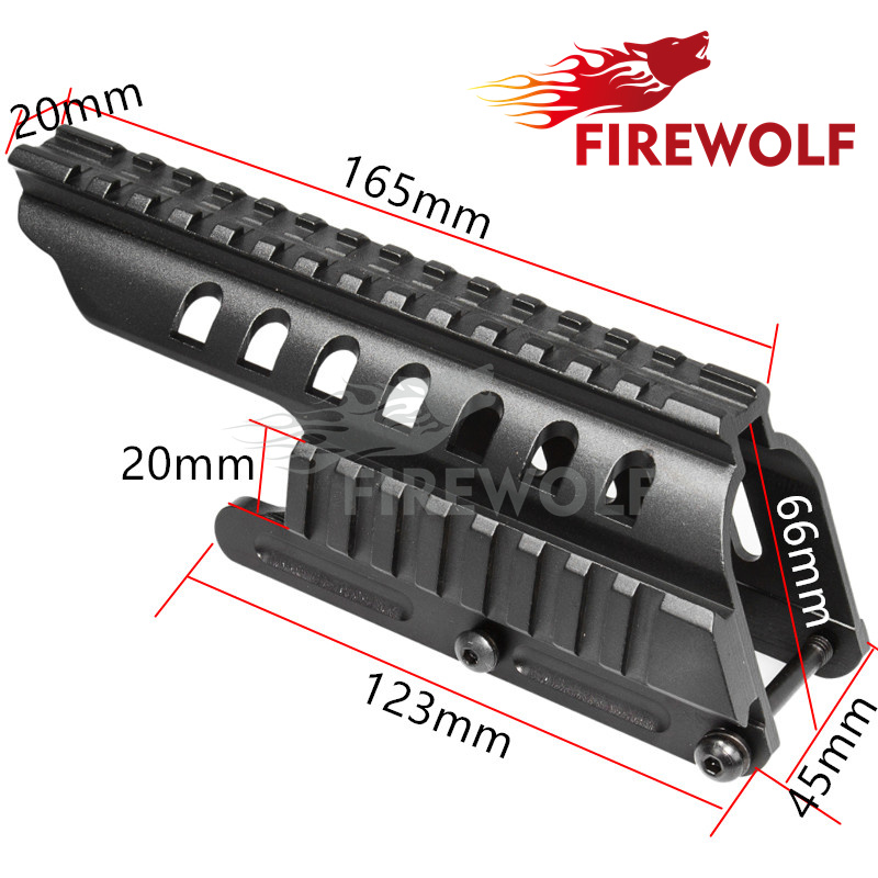 FIRE WOLF Tactical 20mm Double Picatinny Rail Mount System Fit For Remington 870 RM870 12 Ga. Scope