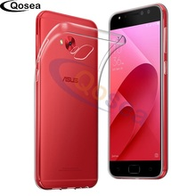 Qosea For Asus Zenfone 4 Selfie Pro ZD552KL Case Clear Slim Soft Silicone TPU Skin Zenfone 4 Airbag Anti-knock Protective Cover цена и фото