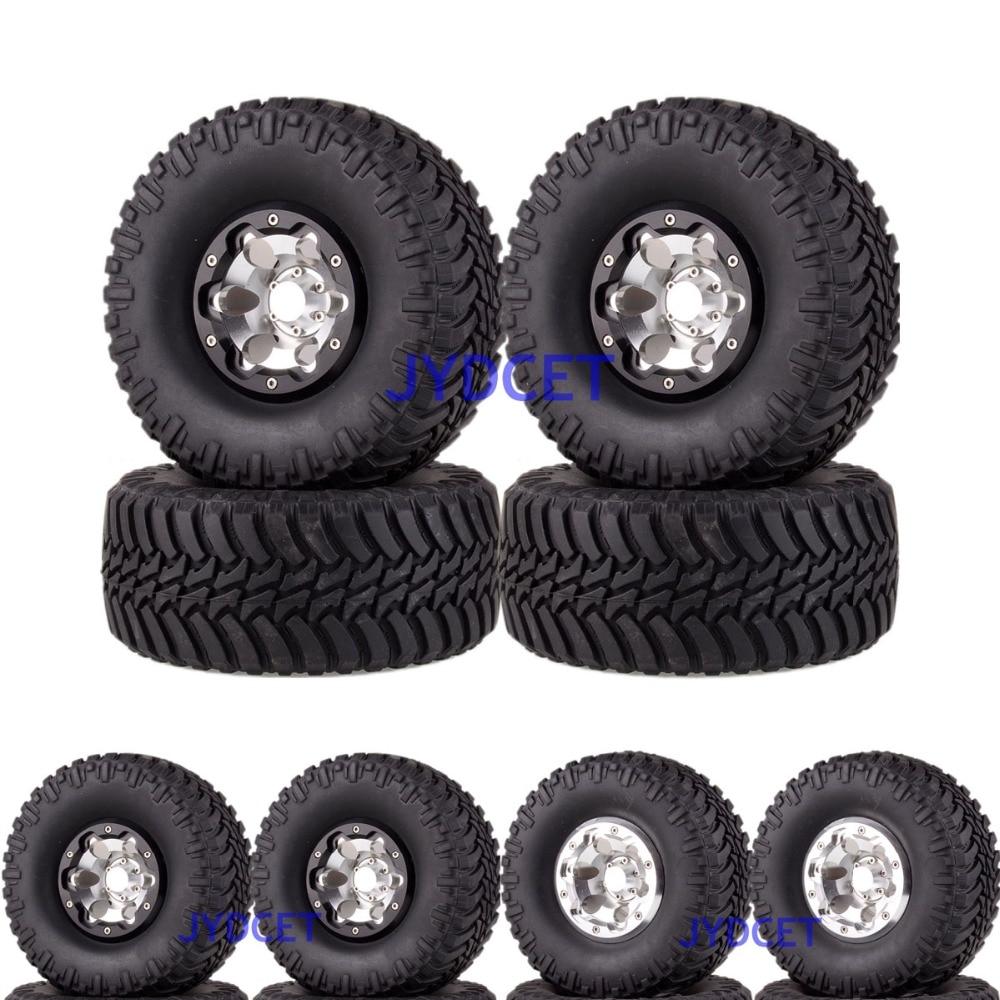 Aluminum 2.2 Beadlock Wheels Rims & Super Swamper Rocks Tyre 128mm 4pcs 2023-3033 For RC 1/10 Climbing Rock CrawlerAluminum 2.2 Beadlock Wheels Rims & Super Swamper Rocks Tyre 128mm 4pcs 2023-3033 For RC 1/10 Climbing Rock Crawler