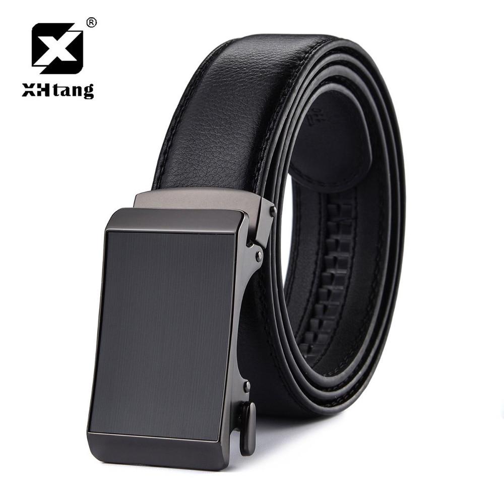 Men/'s Belt,XHtang Automatic Slide Ratchet Belt for Men with Genuine Leather