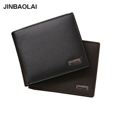 Wallet men with coin pocket genuine leather men wallets zipper money bag business purse short clutch male purse leather wallet(China)