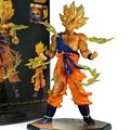 Frete Grátis 17 CM Anime Dragon Ball Z Super Saiyan Goku PVC Action Figure Toy Collectible
