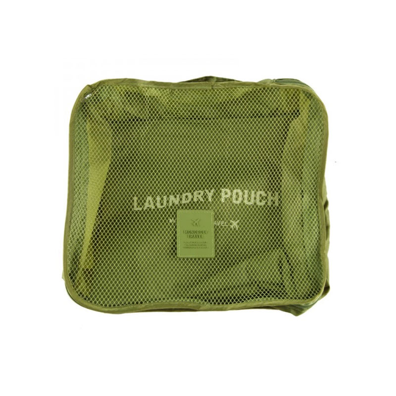 2 Pcs/set Ultra Light Slim Zipper Travel Packing Cubes Visible And Breathable Nylon Mesh Laundry Pouch