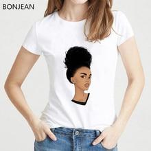 vogue black girl print t shirt femme Melanin Poppin Women T Shirt harajuku shirt summer tops tee female t-shirt tumblr clothes цены