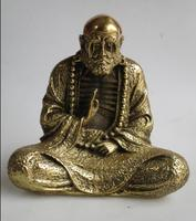 High19CM Art Collection Chinese brass Bodhidharma statue /Metal Decoration Crafts Bodhidharma Sculptures