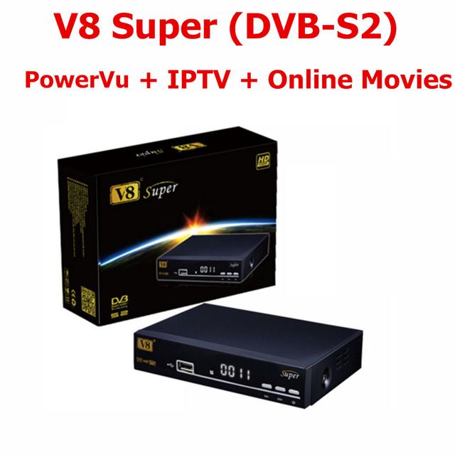 1080 P Full HD DVB-S2 Receptor de TV Por Satélite V8 Súper Decodificación 64 M Bits Serial Flash Receptor de Satélite DVB-S2 apoyo Línea Cccam