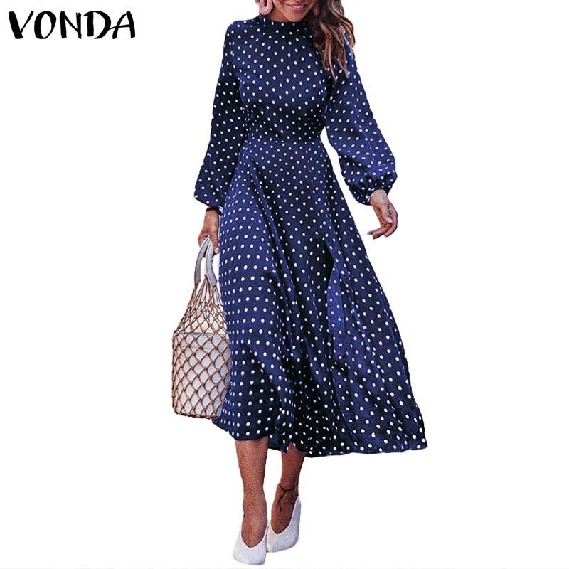 Осеннее платье 2018, пляжные платья, женские, в горошек, с круглым вырезом, для вечеринки без рукавов, длинное платье, vestidos robe, большие размеры