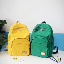 New Fashion Backpacks Women Canvas Backpack Bag for High School Girl Candy-colored canvas backpack men and women school bags