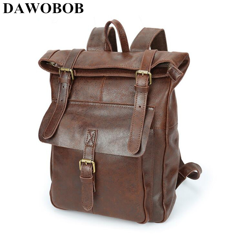 2018 Hot! Women Fashion Backpack Male Travel Casual Backpack Mochilas School Mens Genuine Leather Bag Laptop Shopping Travel Bag 2018 nylon fashion backpacks women young ladies backpack girl student school bag for laptop travel bag black mochilas hot sale