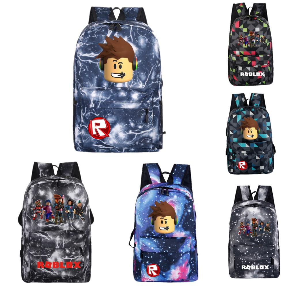 Anime Roblox Game Backpack School Bags for Teenage Boys Girls Laptop Backpack Men Large Capacity Casual Travel Shoulders Bags zelda laptop backpack bags cosplay link hyrule anime casual backpack teenagers men women s student school bags travel bag
