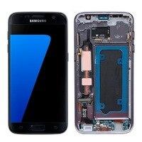 100% заменить Водонепроницаемый 5,5 ''amoled ЖК дисплей для SAMSUNG Galaxy s7 G930 G930F Сенсорный экран Digitizer Ассамблеи Дисплей + рамка